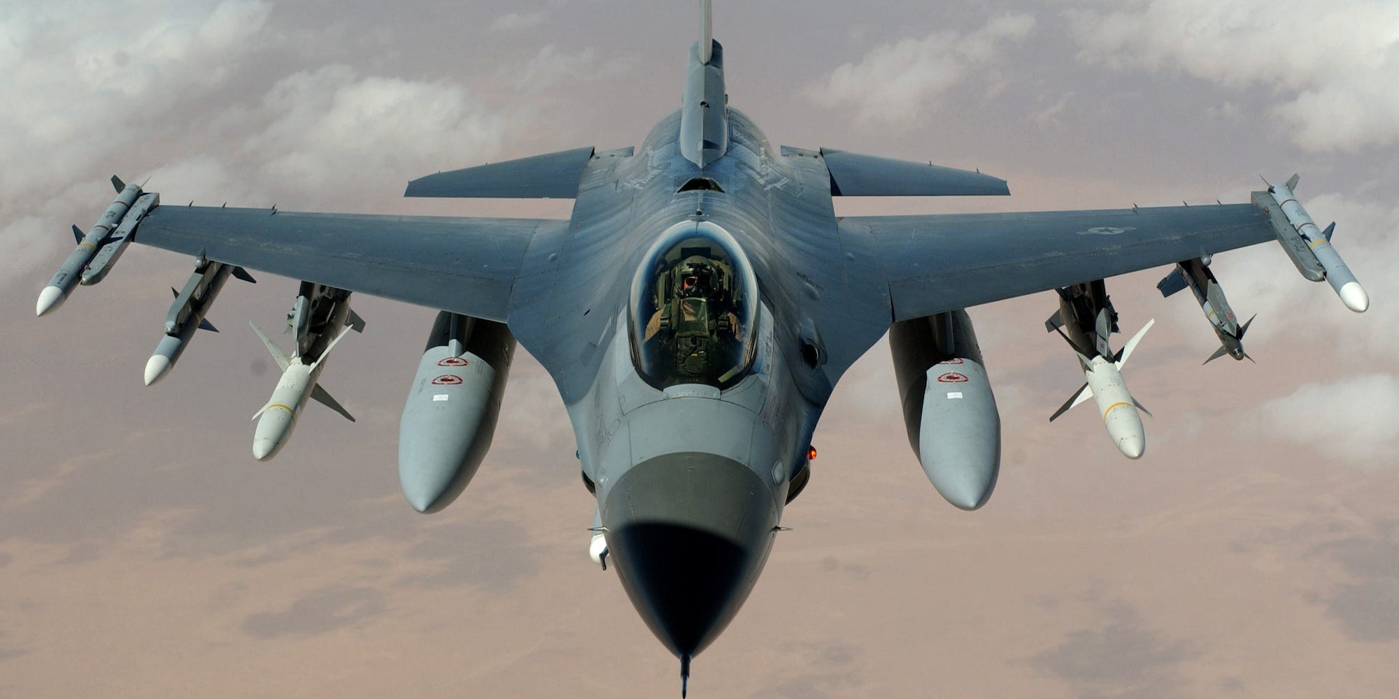 Air Force F-16 Fighting Falcon fighter jet