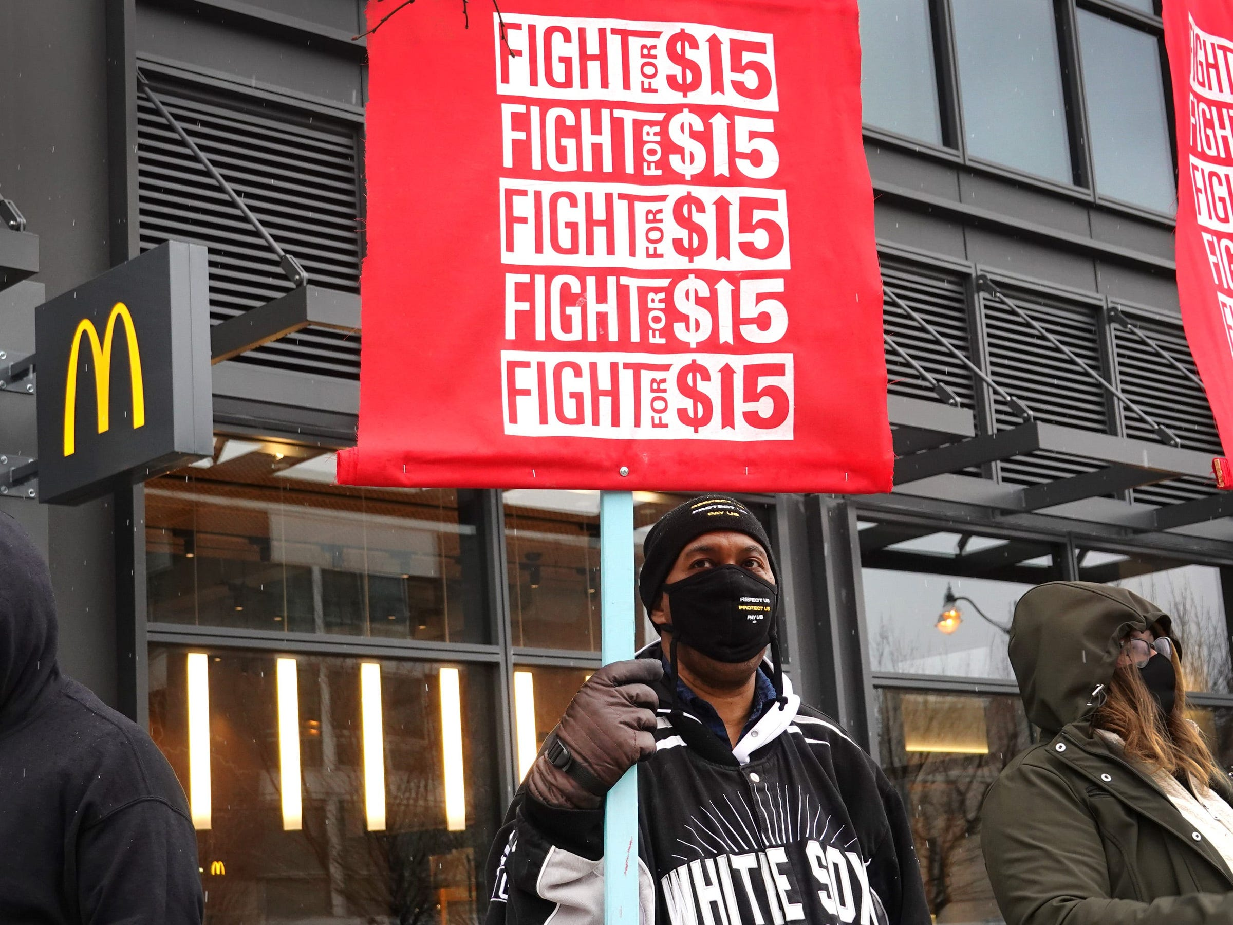 fight for 15 minimum wage protest