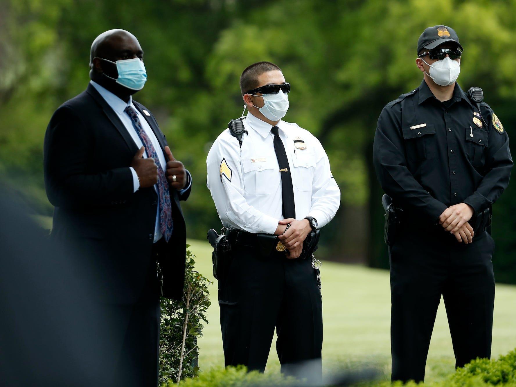Secret Service masks