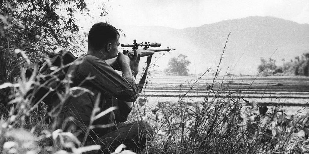 A Marine Corps sniper in Vietnam